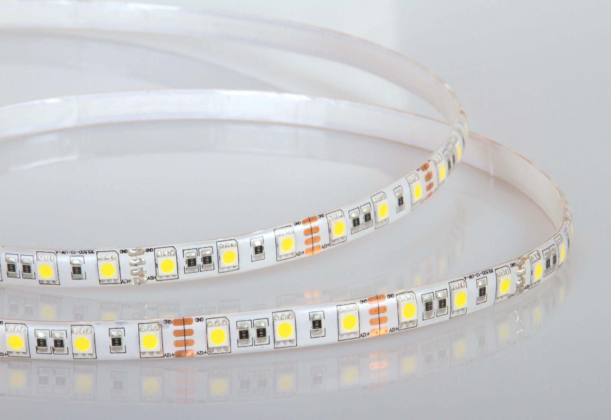 Ruban LED étanche pour bordure de jardin en aluminium