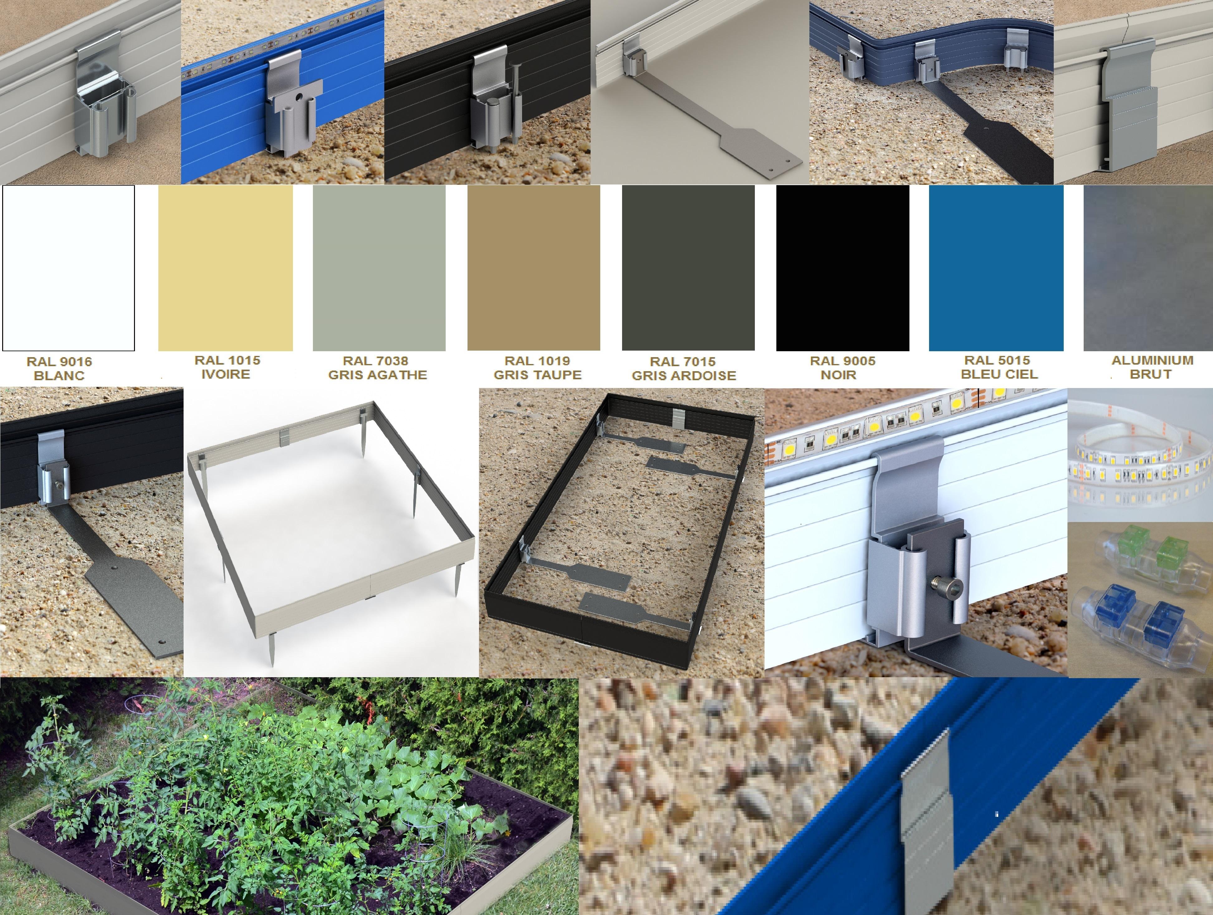 bordure aluminium pour jardin apanalu Apanages