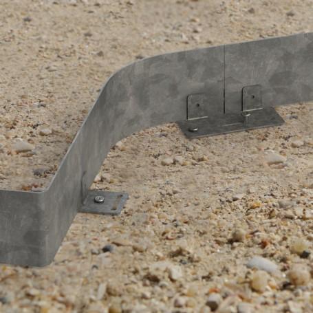 Bordure acier galva. long. 3 mètres