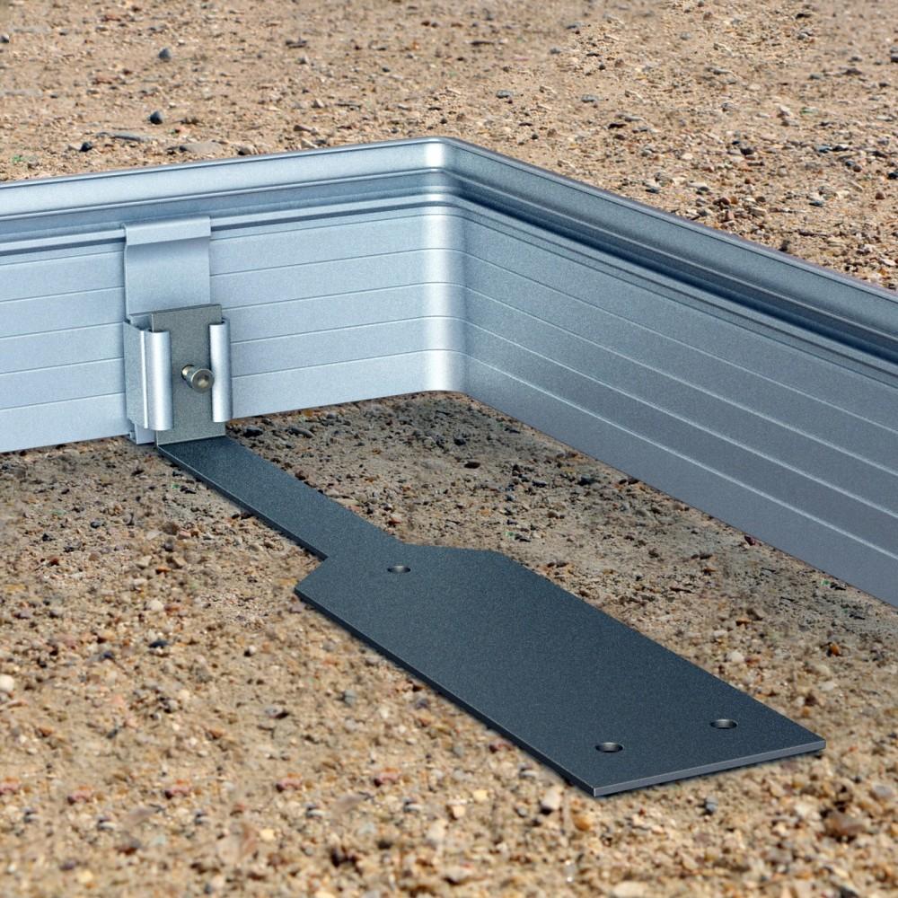 Fixations clipper pour bordure de jardin aluminium - Bordure aluminium jardin castorama paris ...