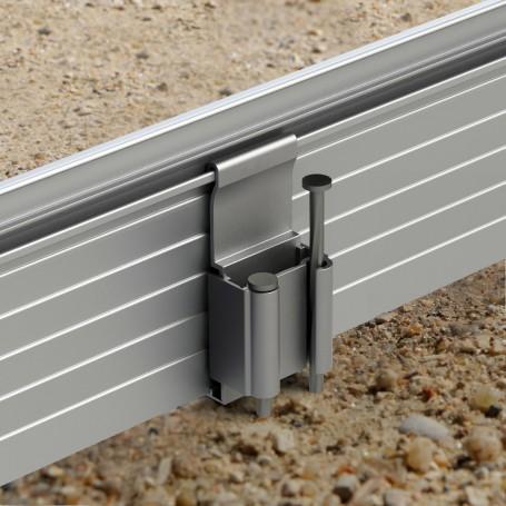 Bordures de jardin en aluminium laqu et brut pose simple - Poser des bordures de jardin sans beton ...