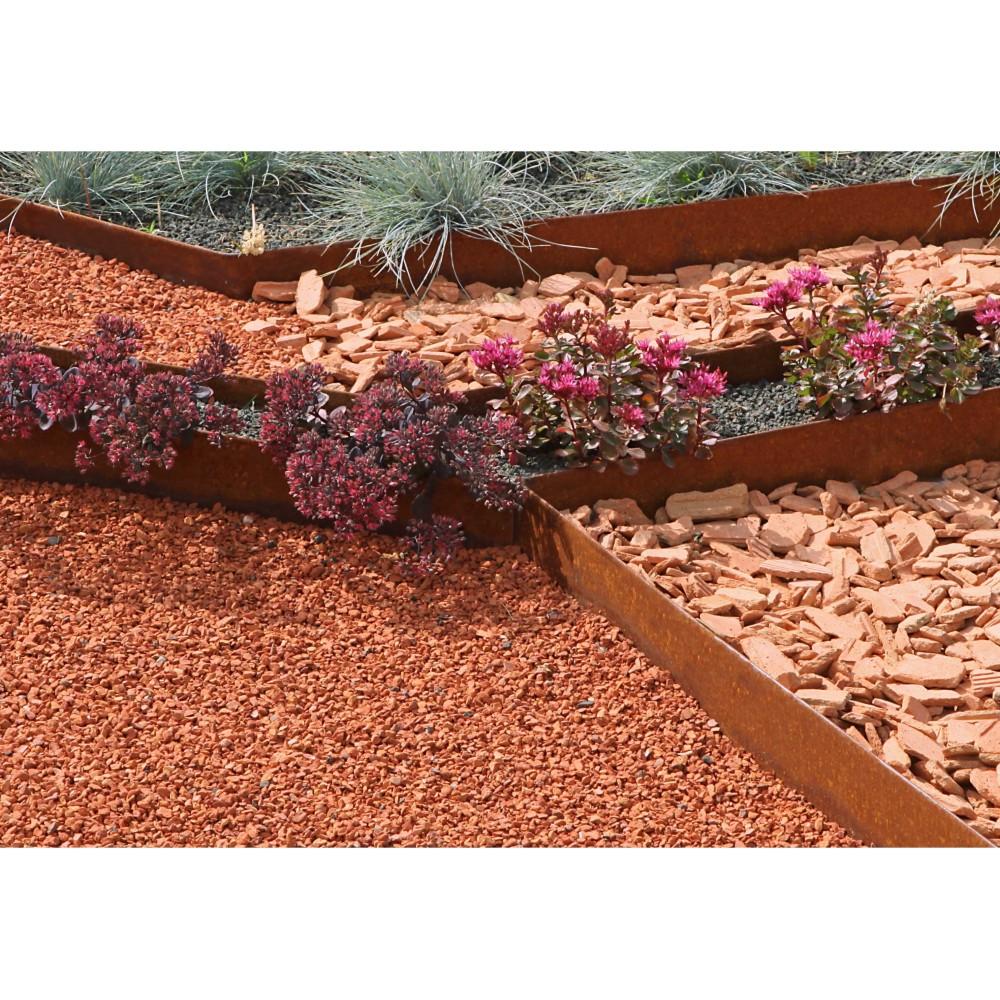 Bordure de jardin pas cher en acier corten rouille - Bordure jardin ...