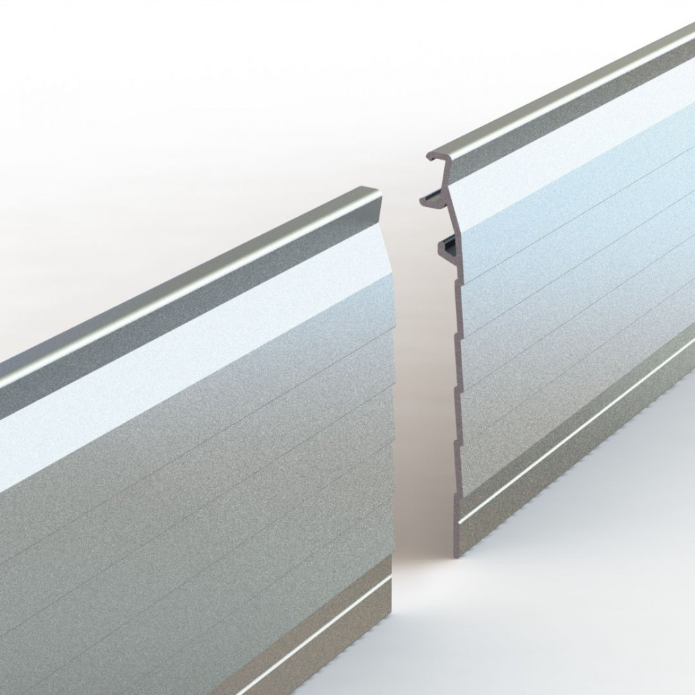 Bordures de jardin en aluminium laqu et brut pose simple for Bordure de jardin en aluminium