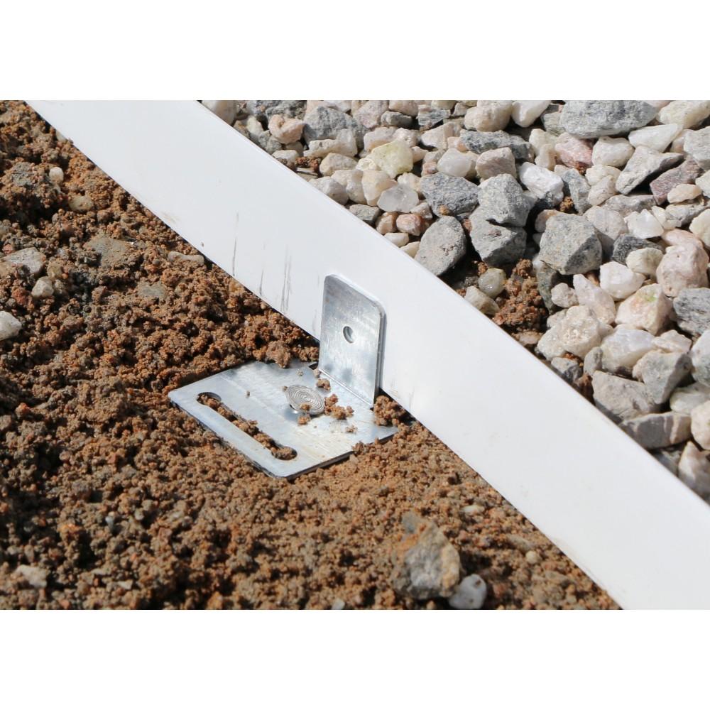 bordures jardin PVC blanc souple pas chères livrées avec scellements