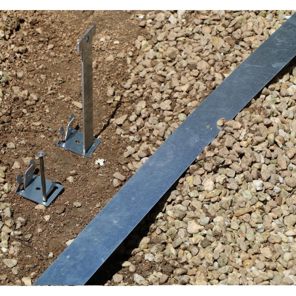bordure jardin qualit professionnel acier galvanis longueur 2 50 m. Black Bedroom Furniture Sets. Home Design Ideas