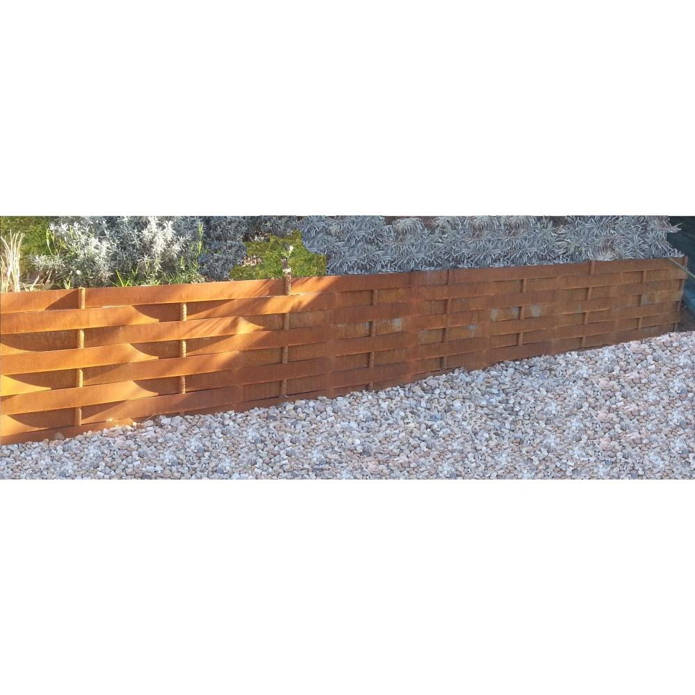 Retenues de terre et de talus en acier corten de type for Bordure jardin acier corten