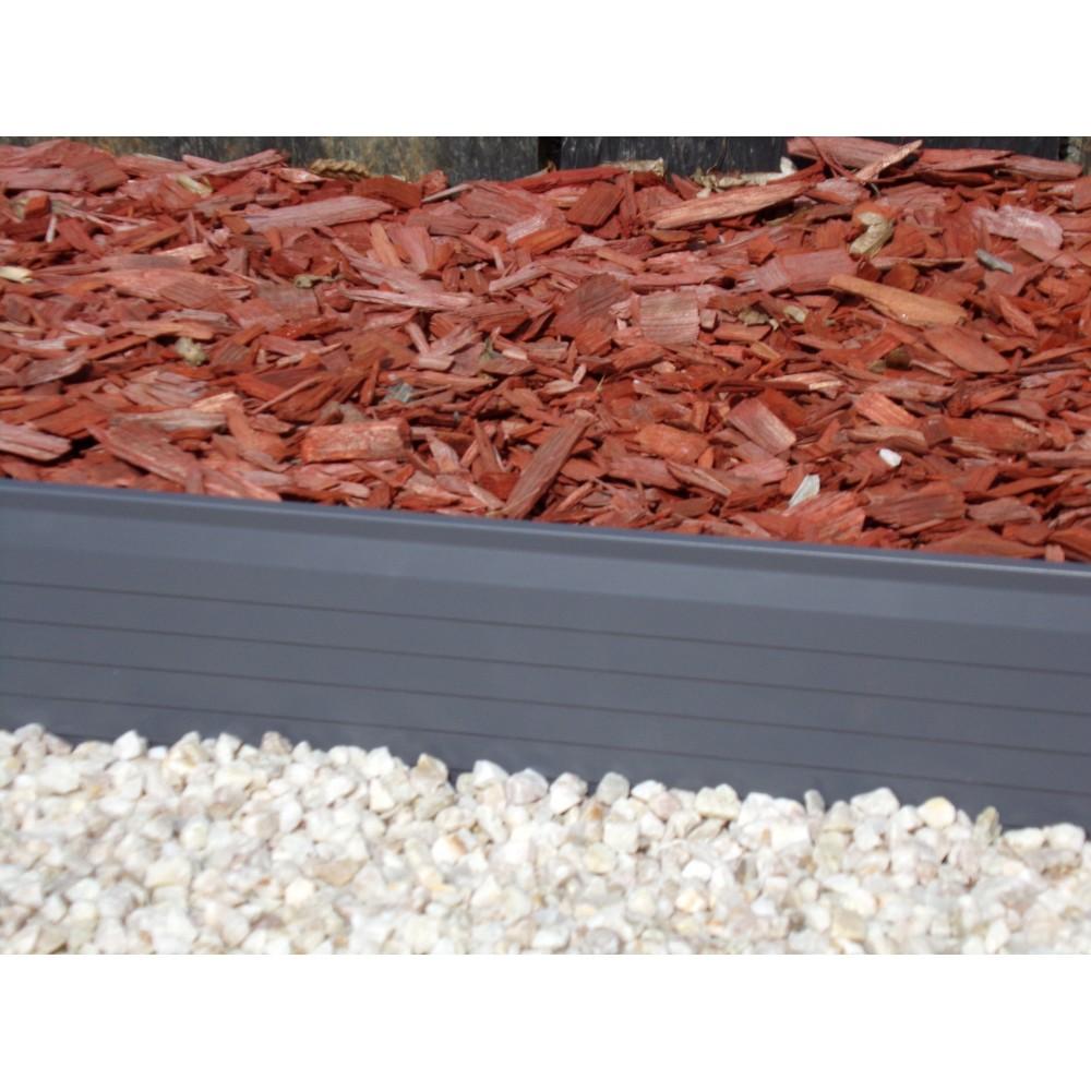 Bordures de jardin en aluminium laqué et brut pose simple et rapide