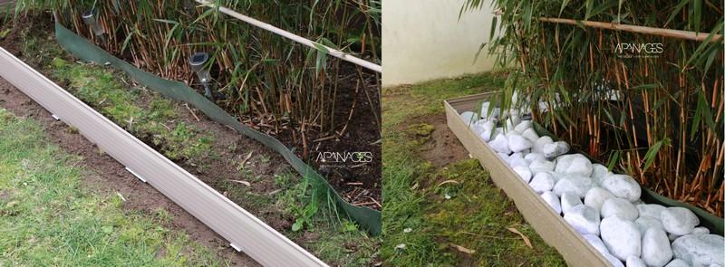 bordure pour cacher une barrière anti-rhizome